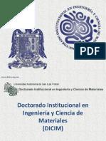 Doctorado Institucional en Ingeniería y Ciencia de Materiales UASLP