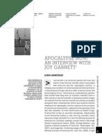 Apocalypse Now - Interview With Joy Garnett (Armitage)