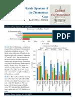 Florida, Zimmerman Case by Race (September 17, 2012)