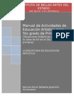 Manual de Actividades  de Educacion Artistica en Primaria