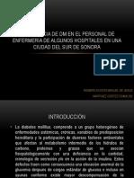 PREVALENCIA DE DM EN EL PERSONAL DE ENFERMERÍA PROTOCOLO