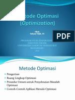 Metode Optimasi (ASTK I)