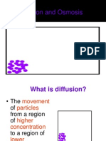 Diffusion and Osmosis 2012