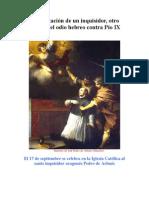 Canonización de un inquisidor, otro motivo del odio hebreo contra Pío IX
