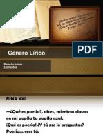GÉNERO LÍRICO I MEDIO