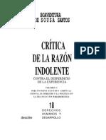 Critica de La Razon Indolente Santos
