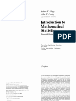 Introduction to Mathematical Statistics by Robert V. Hogg