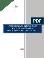 Procedimiento Denuncia Acoso Laboral Documento Tematico