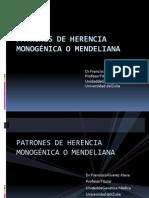 PATRONES DE HERENCIA MONOGÉNICA O MENDELIANA