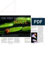 Rice Today Vol. 11, No. 4 The first lady of rice