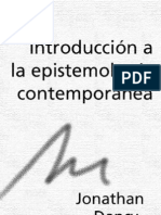 Introduccion a La Epistemologia Contemporanea