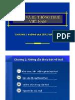 Chương 2 Những vấn đề cơ bản về thuế
