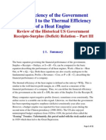 The Efficency of Government Compared to Thermal Efficiency of a Heat Engine
