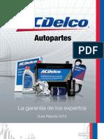 ACDelco catalogo partes para GM