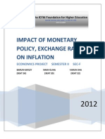 Impact of Monetary Policy and Exchange Rate on Inflation_BARUN IMAN VARUN