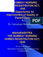 Bombay Nursing Homes Act Presentation
