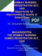 Bombay Nursing Homes Act Presentation