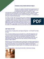 Refurbishment/Upgrade of Bulford SFA & Unit Health Fair