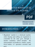 Regulated Markets in India & Its Future