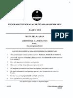 2012 PSPM Kedah AddMath 2 w Ans