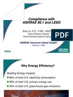 Compliance With ASHRAE & LEED (02!07!2008)