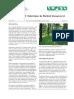 Import of Disturbance in Habitat Managenment