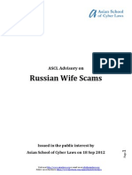 ASCL Advisory on Russian Wife Scams