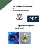 Applied Physics Lab Manual