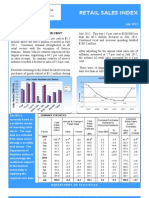 Retail Sales Index July 2012