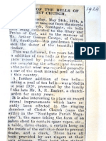 1924 - Newspaper report on the centenary of the Bells at Christ Church Southgate