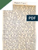 1905 - Report on the Christ Church Parish Excursion