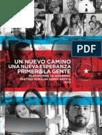 Un Nuevo Camino, Una Nueva Esperanza - Primero La Gente - Plataforma de Gobierno Del PPD 2012