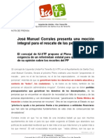 José Manuel Corrales presenta una moción integral para el rescate de las personas