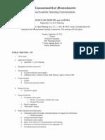 Mass Gaming Commission Agenda 9-18-2012