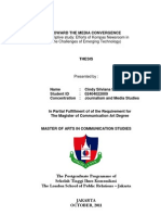 Toward the Media Convergence ( A Descriptive Study about Kompas Efforts to be Media Convergence)