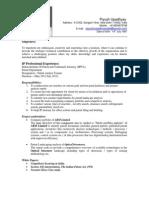 Resume Piyush Upadhyay 9 Sept,2012