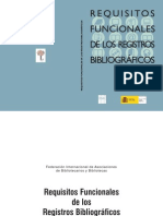 FRBR Requesitos Funcionales de Los Registros Bibliograficos