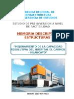 Memoria Estructura Hospital Negreiros