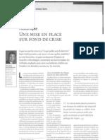 55 Mise en place sur fond de crise - stress tests - revue banque et stratégie N°282 - juin 2010