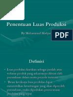 Penentuan Luas Produksi