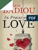 Badiou, In Praise of Love