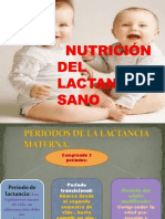 NUTRICIÓN DEL LACTANTE                          SANO