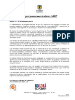 Bogotá promoverá turismo LGBT