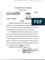 2012-09-18 - Scheduling Order for Appeal of Westbrooks Decision - Cottonmouth