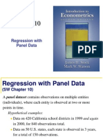 Panel Data Regression Chap 10