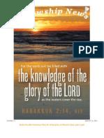August 21, 2012 Fellowship News