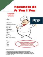 Cartel Chefs 7ª pareja