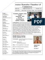 Greater Romulus Chamber of Commerce September 2012 Newsletter