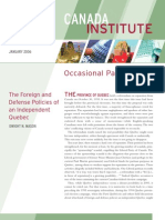 The Foreign and Defense Policies of an Independent Quebec