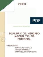 Equilibrio Del Mercado Laboral y El Pib Potencial(1)
